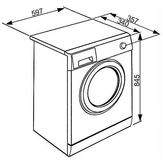 smeg lavatrice lbw410cit