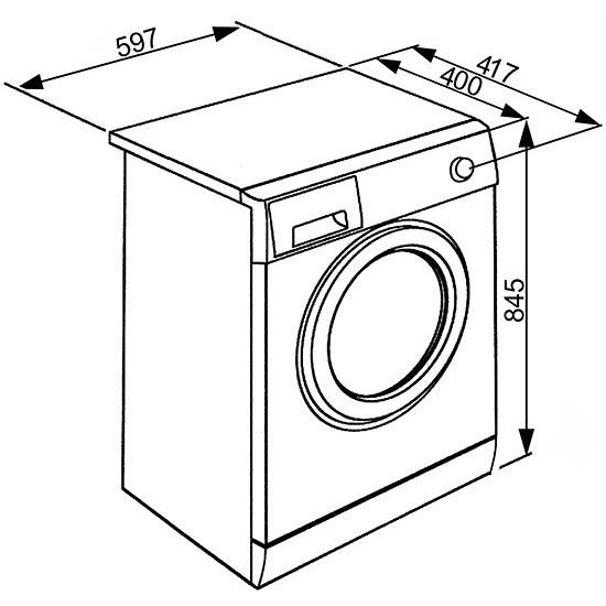 Smeg LBW610CIT Lavatrice carica frontale 40 cm 6 Kg 1000 giri 15 programmi Classe A++ colore Bianco