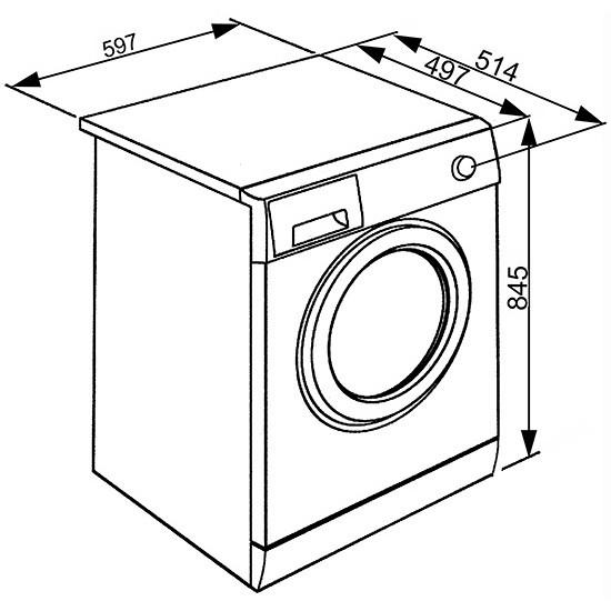 Smeg LBW610IT Lavatrice carica frontale 6 kg 1000 giri 15 programmi Classe A++ colore Bianco