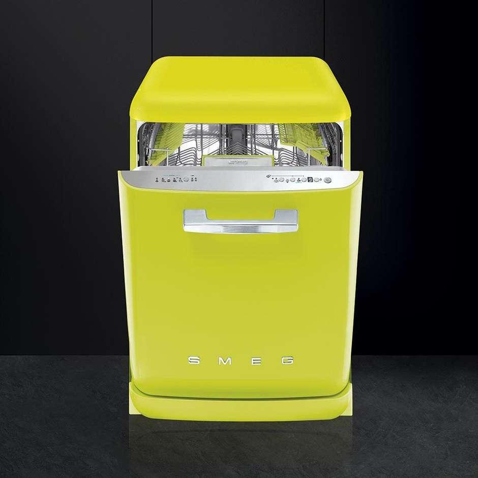 Smeg LVFABLI lavastoviglie 13 coperti 10 programmi classe A+++ colore lime