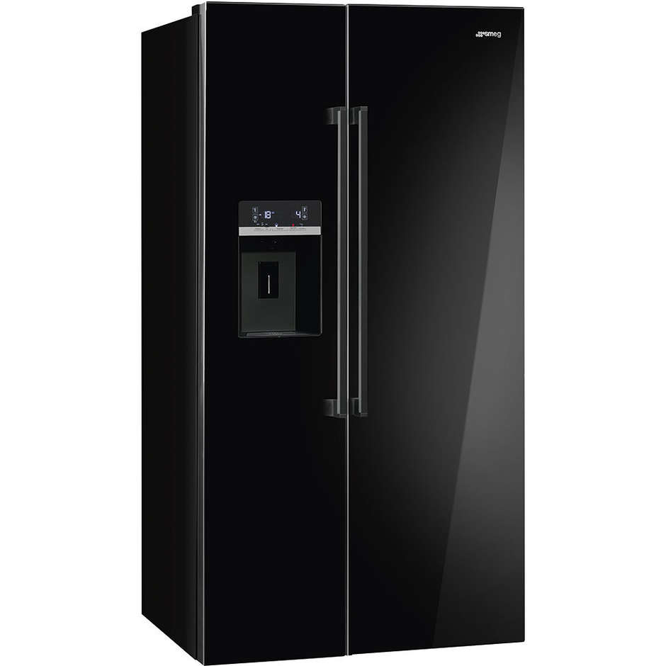 Smeg SBS63NED frigorifero side by side 544 litri classe A+ Total No Frost colore nero