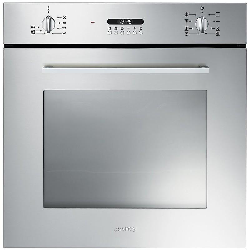 Smeg sf478x forno elettrico da incasso classe a 70 litri multifunzione inox forni da incasso - Forno da incasso elettrico ...