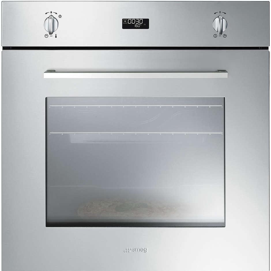 Smeg sf485xpz forno elettrico termoventilato da incasso 65 litri classe a colore inox forni da - Forno da incasso elettrico ...