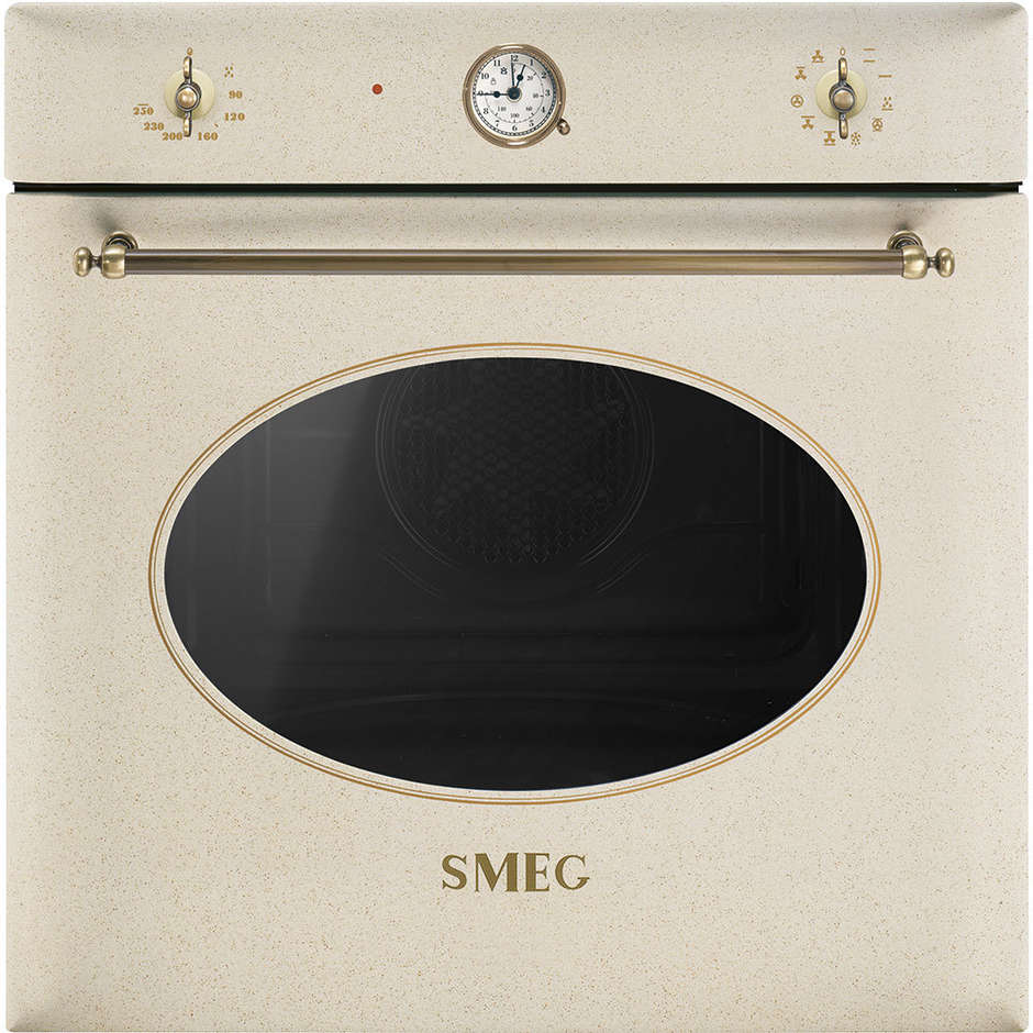 Smeg sf855avo forno elettrico ventilato da incasso 70 litri classe a colore avena forni da - Forno elettrico ventilato da incasso prezzi ...