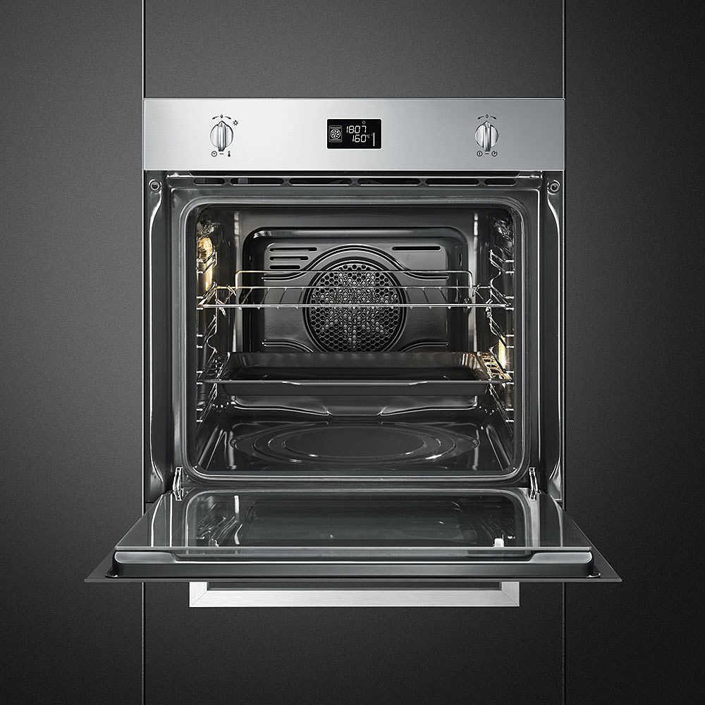 Smeg sfp496xe forno elettrico termoventilato da incasso 70 litri classe a pirolitico colore - Il miglior forno elettrico da incasso ...