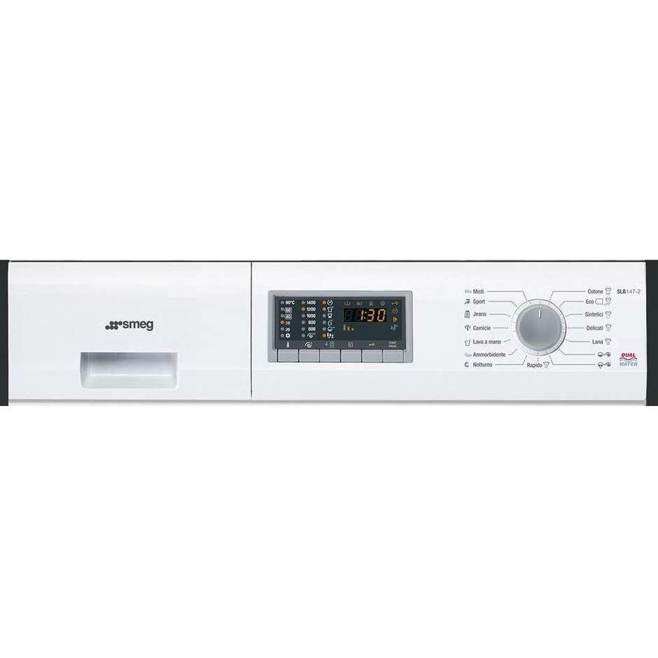 Smeg SLB147-2 Lavatrice carica frontale 7 kg 1400 giri/min 15 programmi Classe A++ colore Bianco