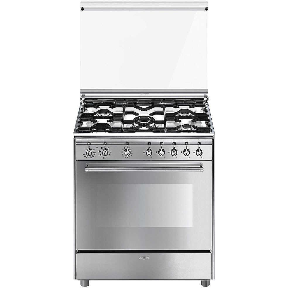 Smeg Sx81m 1 Cucina 80x50 5 Fuochi A Gas Forno Elettrico