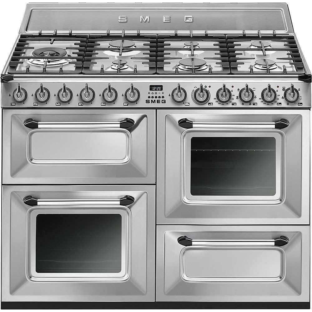 Smeg TR4110X cucina 110x60 7 fuochi a gas triplo forno classe A ...