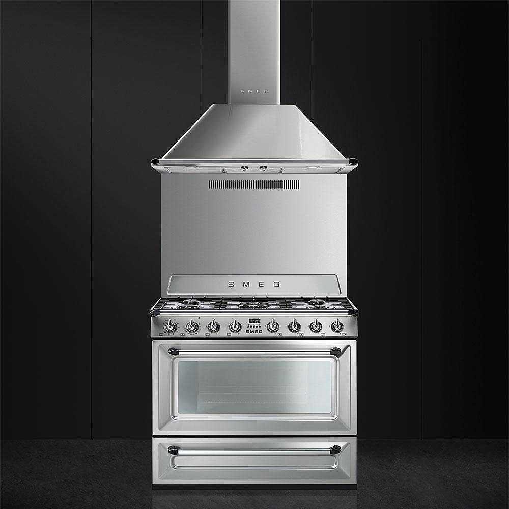 Smeg Tr90x9 Cucina 90x60 5 Fuochi A Gas Forno Termoventilato 115