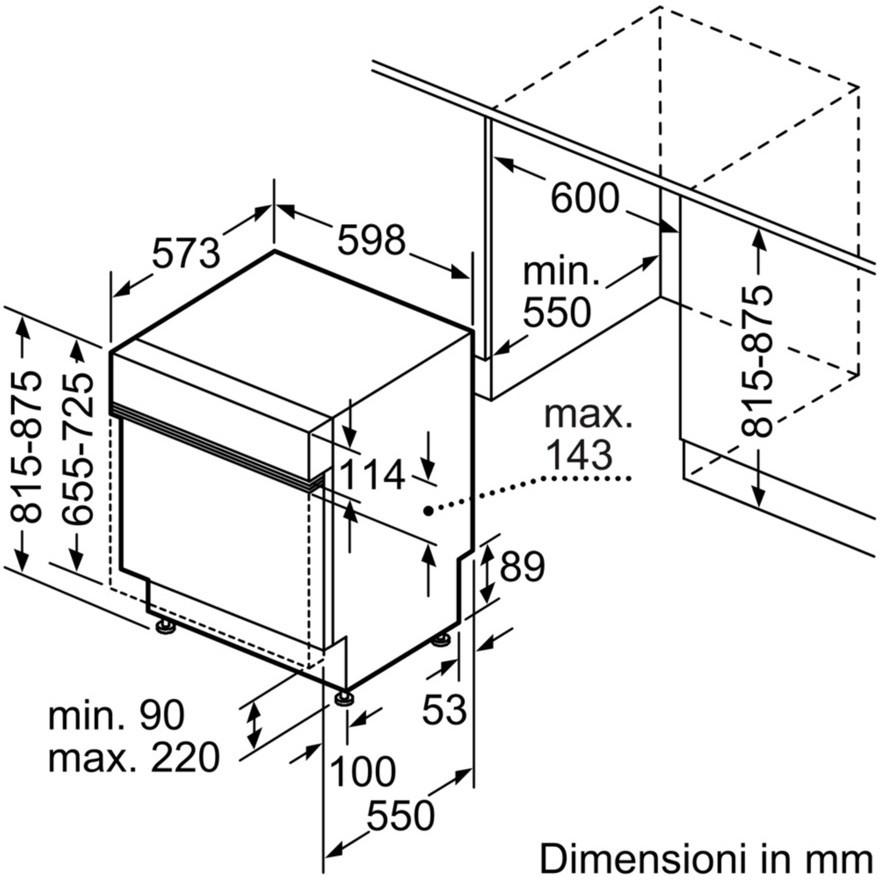 SMI69N96EU Bosch Lavastoviglie da 60 cm, con 14 coperti 6programmi ...