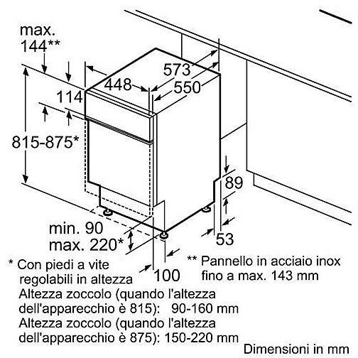 spv40e20eu bosch lavastoviglie da 45 cm classi a+aa 9 coperti bianco ...