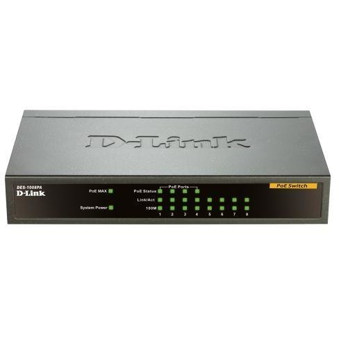 switch desktop 8 porte 10/100 mbps