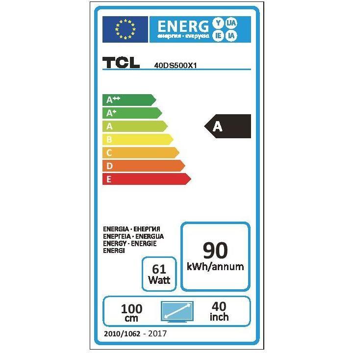 """TCL 40DS500 Tv LED 40"""" Full HD Smart Tv Wifi integrato classe A colore nero"""