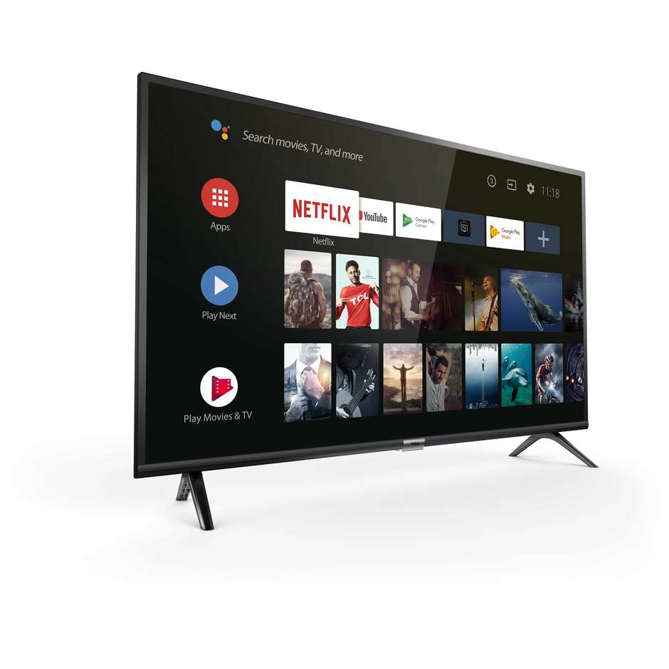 "TCL 40ES560 Tv LED 40"" Full HD Smart Tv Wi-Fi Android 8.0 classe A+ colore nero"