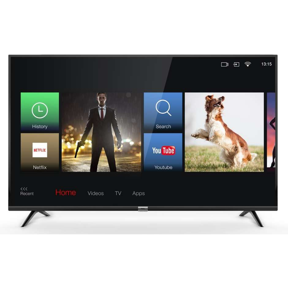"TCL 55DP600 Tv LED 55"" 4K Ultra HD HDR Smart Tv Wi-fi classe A+ colore nero"