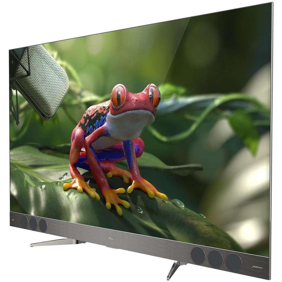 """TCL U65X9006 Xess X2 Tv QLED 65"""" 4K Ultra HD HDR Smart Tv Android Tv classe A colore argento"""