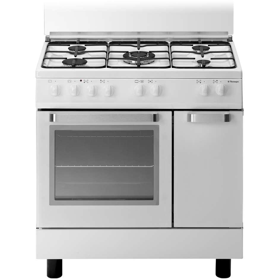 Tecnogas d827ws cucina 80x50 5 fuochi a gas forno elettrico multifunzione 52 litri classe a - Cucina a gas 5 fuochi ...