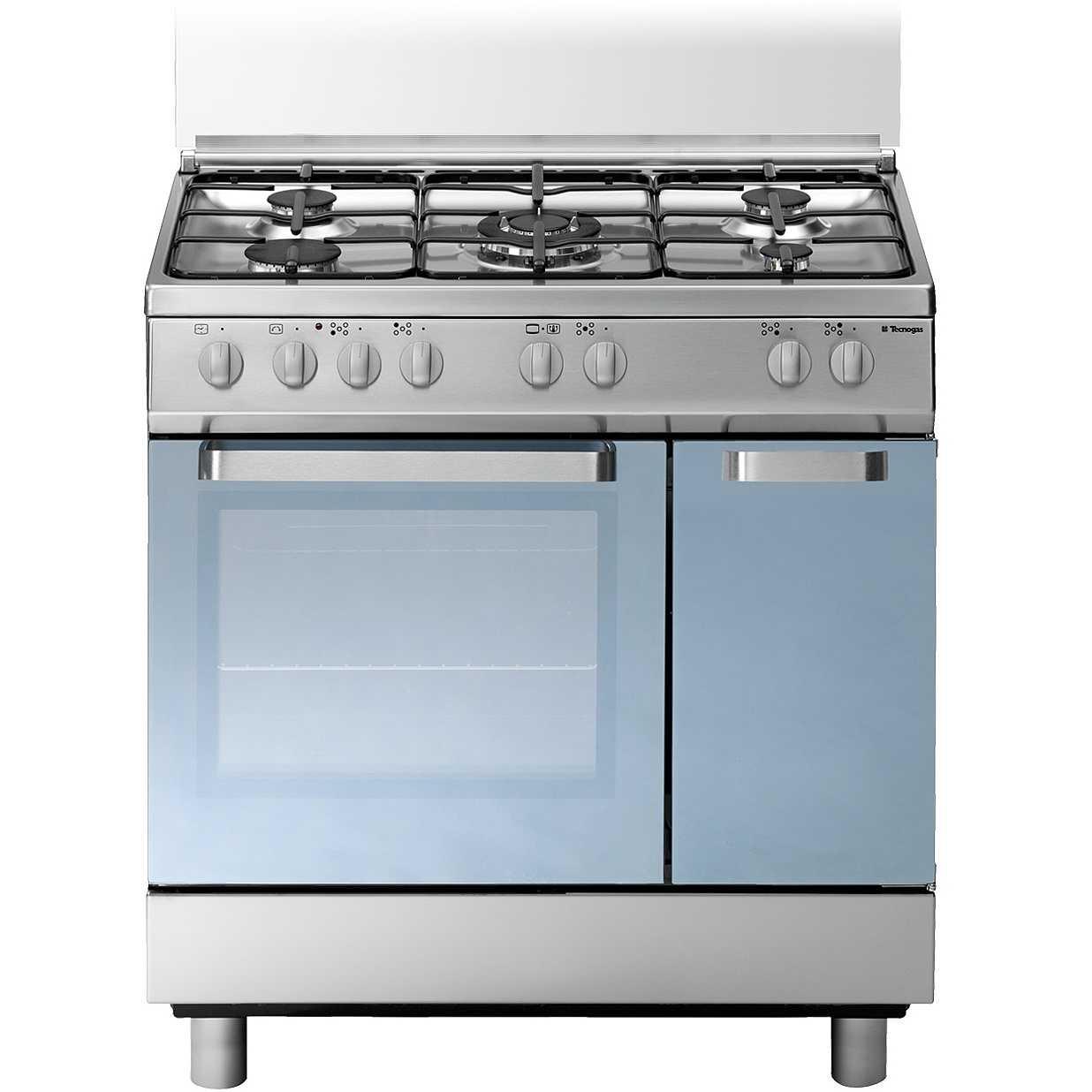 Tecnogas d827xs cucina 80x50 5 fuochi a gas forno elettrico multifunzione 52 litri classe a - Cucina 5 fuochi ...