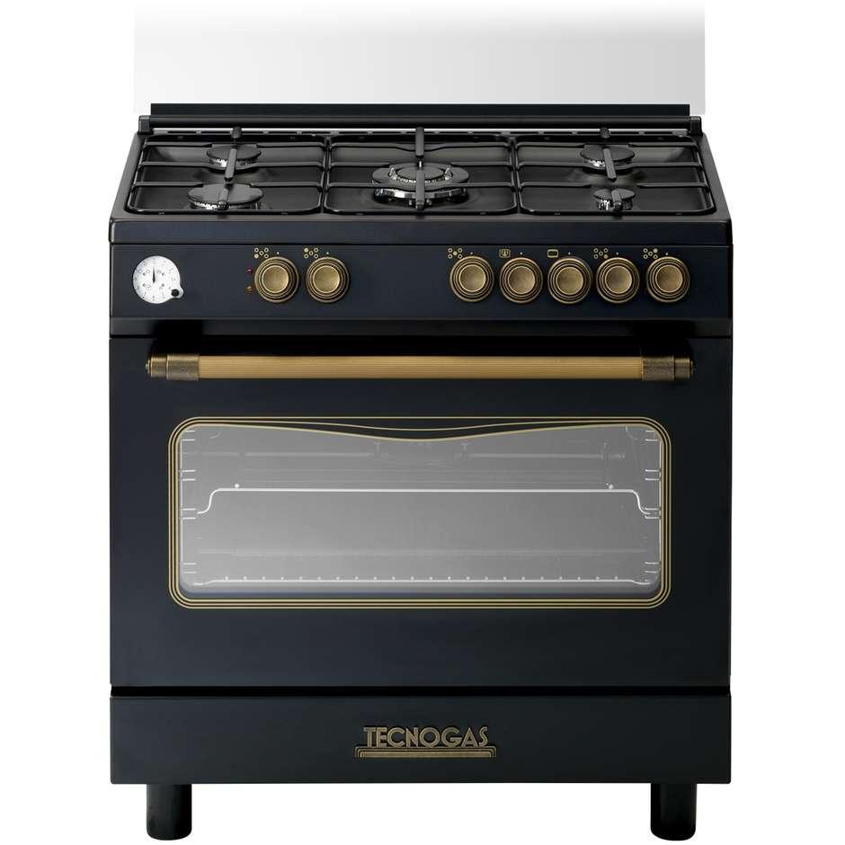 Tecnogas d855gn cucina 80x50 5 fuochi a gas forno a gas con grill elettrico 85 litri classe a - Cucina forno a gas ...