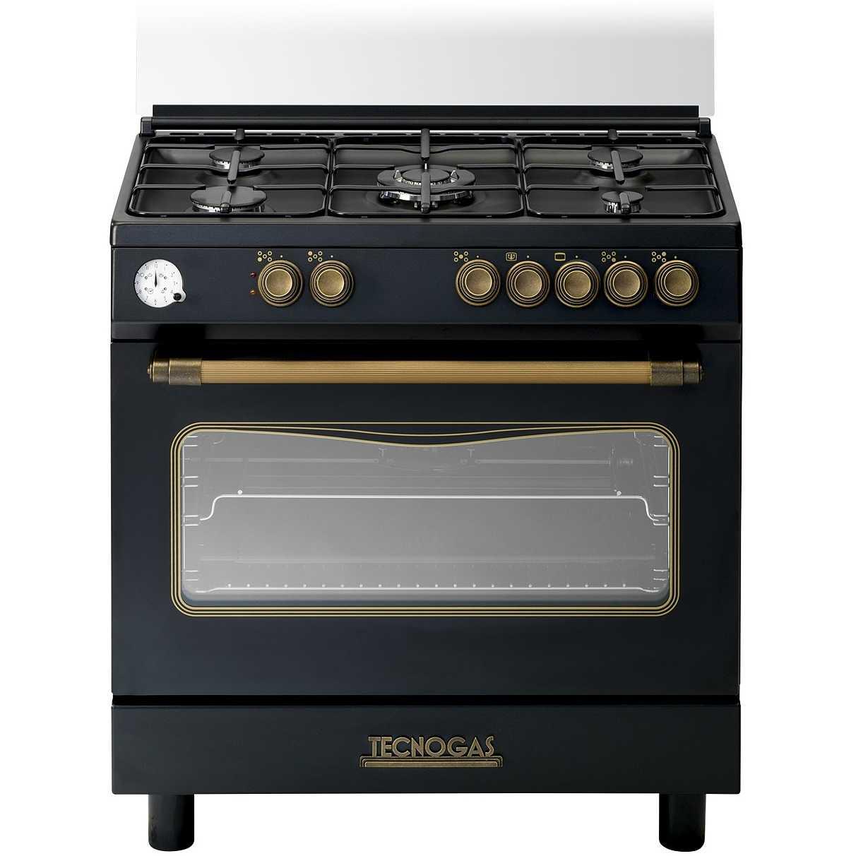 Tecnogas D855GN cucina 80x50 5 fuochi a gas forno a gas con grill ...