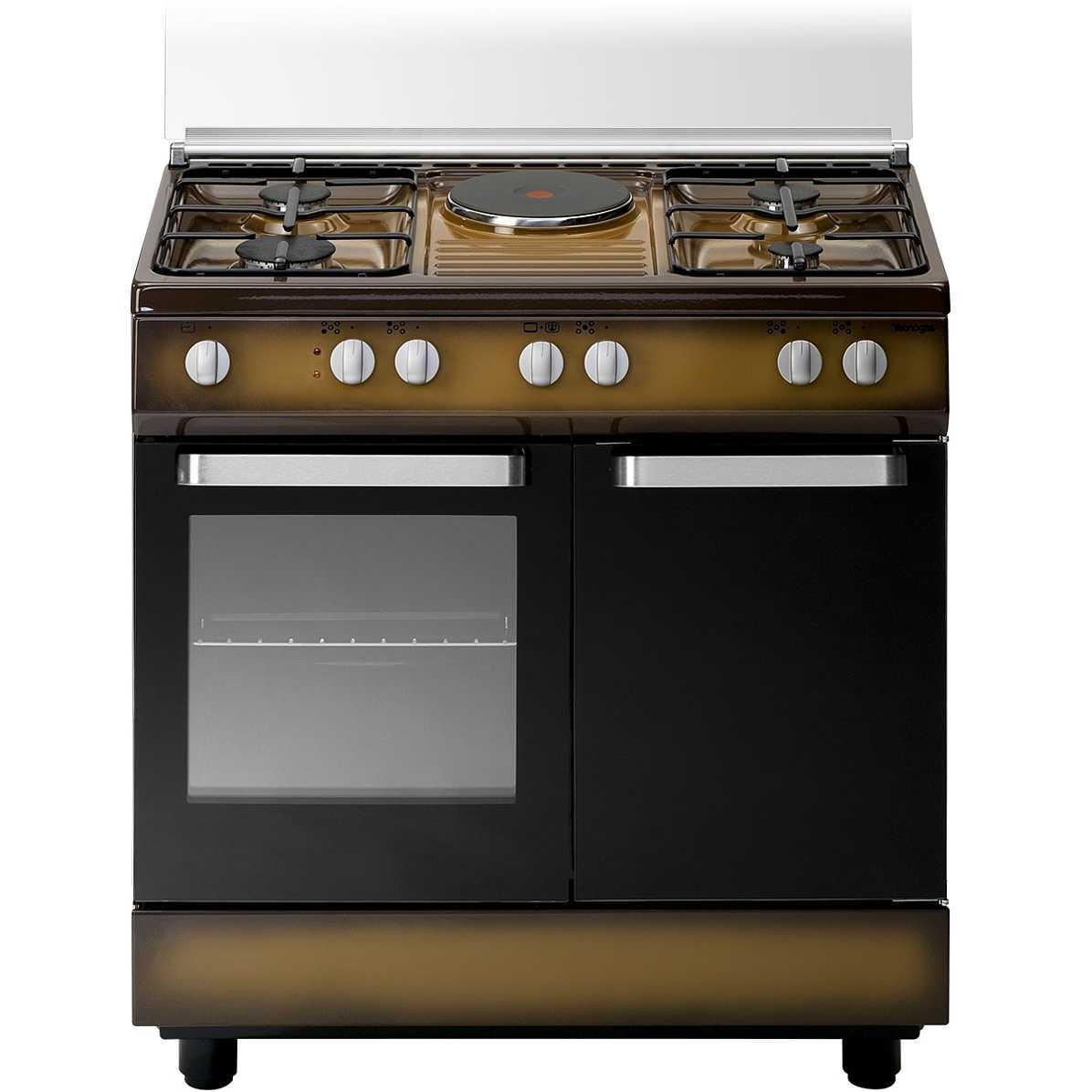 Tecnogas d881cs cucina 80x50 4 fuochi a gas 1 piastra elettrica forno elettrico 55 litri - Piastra elettrica cucina ...