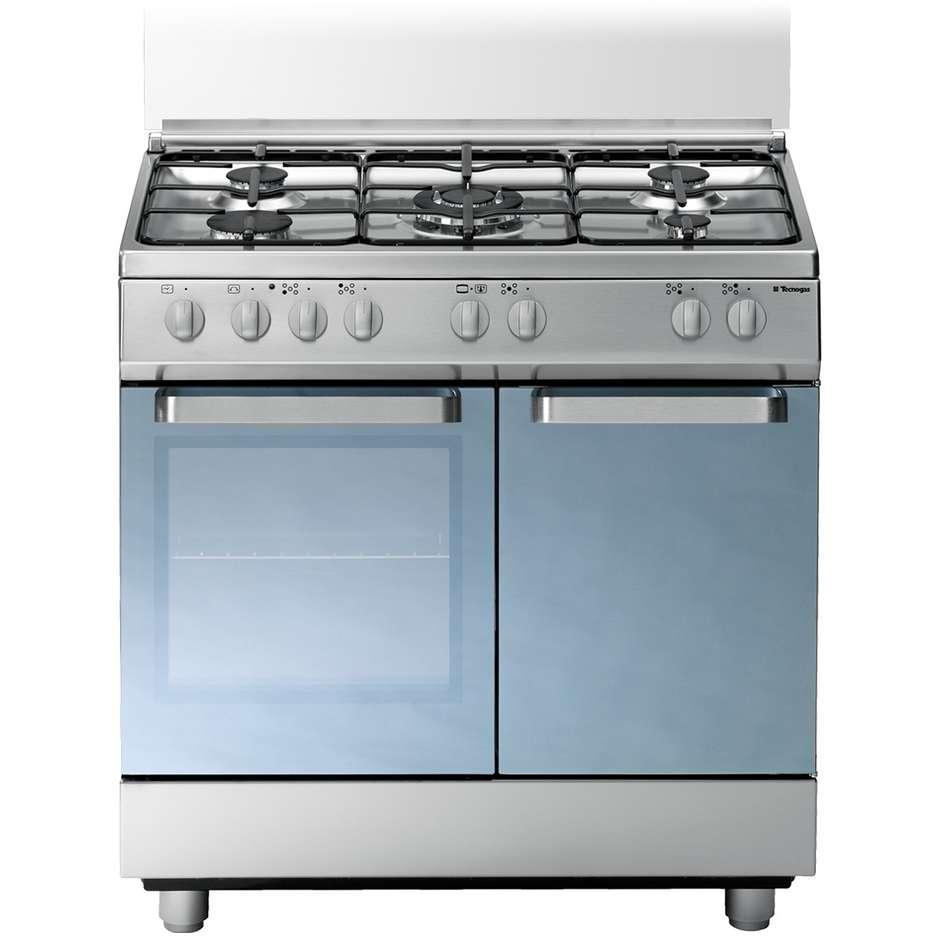 Tecnogas d884xs cucina 80x50 5 fuochi a gas forno a gas for Cucina 5 fuochi