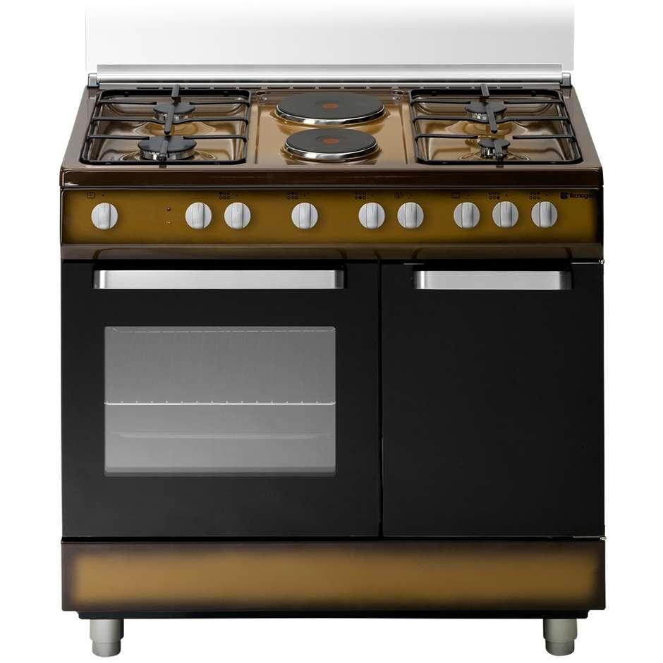 Tecnogas d923cs cucina 90x60 4 fuochi a gas 2 piastre - Cucina con piastre e forno elettrico ...