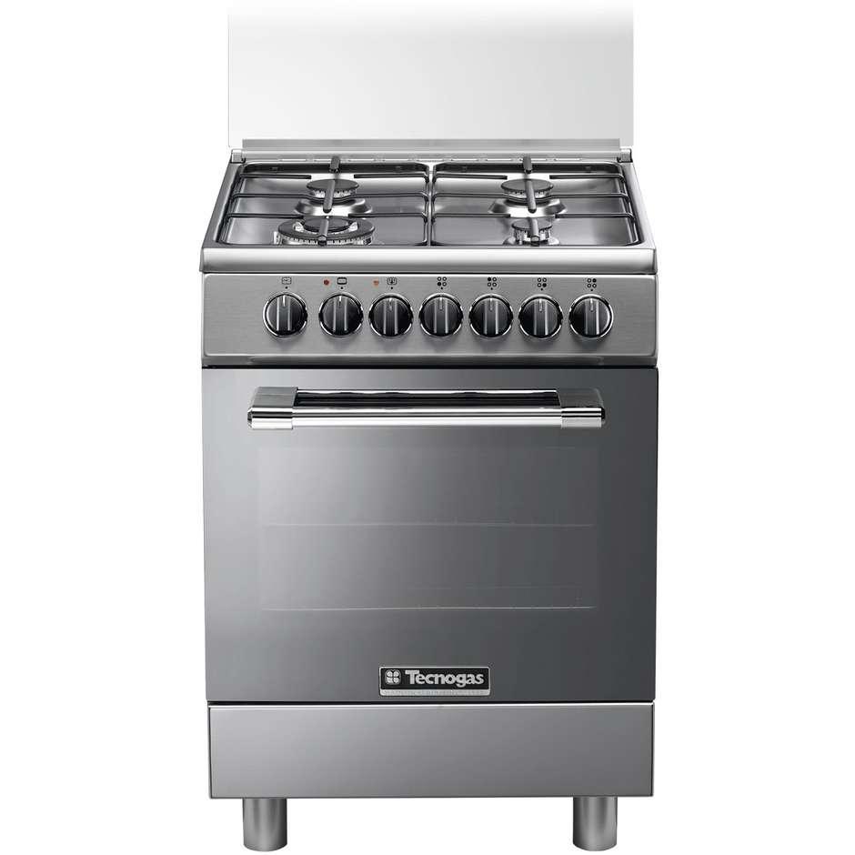 Tecnogas p664gvx cucina 60x60 4 fuochi a gas forno a gas ventilato con grill elettrico colore - Cucina a gas con forno elettrico ...