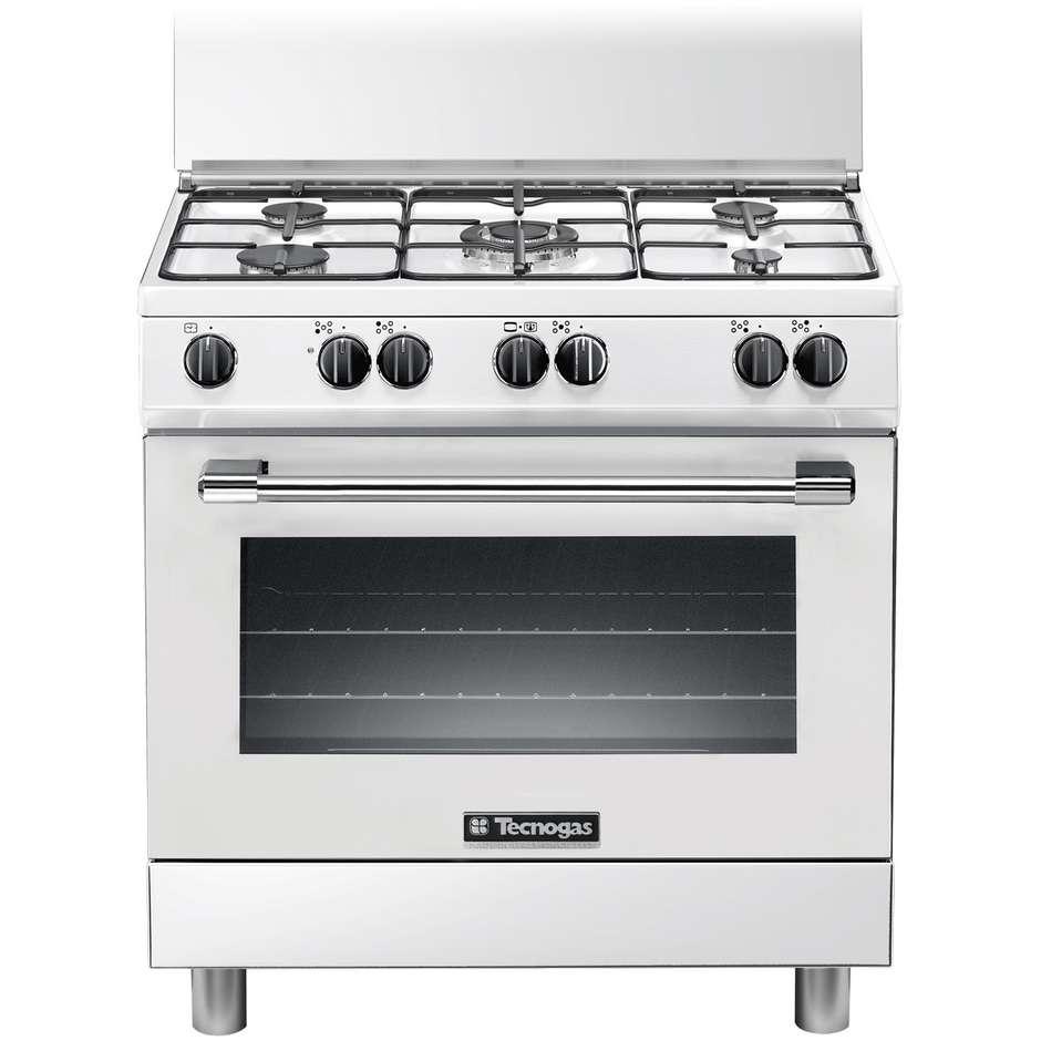 Tecnogas p855gw cucina 80x50 5 fuochi a gas forno a gas con grill elettrico 85 litri classe a - Cucina a gas 5 fuochi ...
