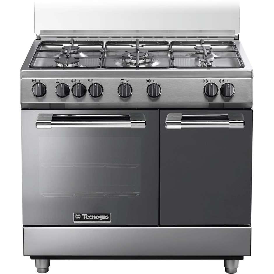 Tecnogas pb965gvx cucina 90x60 5 fuochi a gas forno a gas ventilato con grill elettrico 59 litri - Cucina con forno a gas ventilato ...