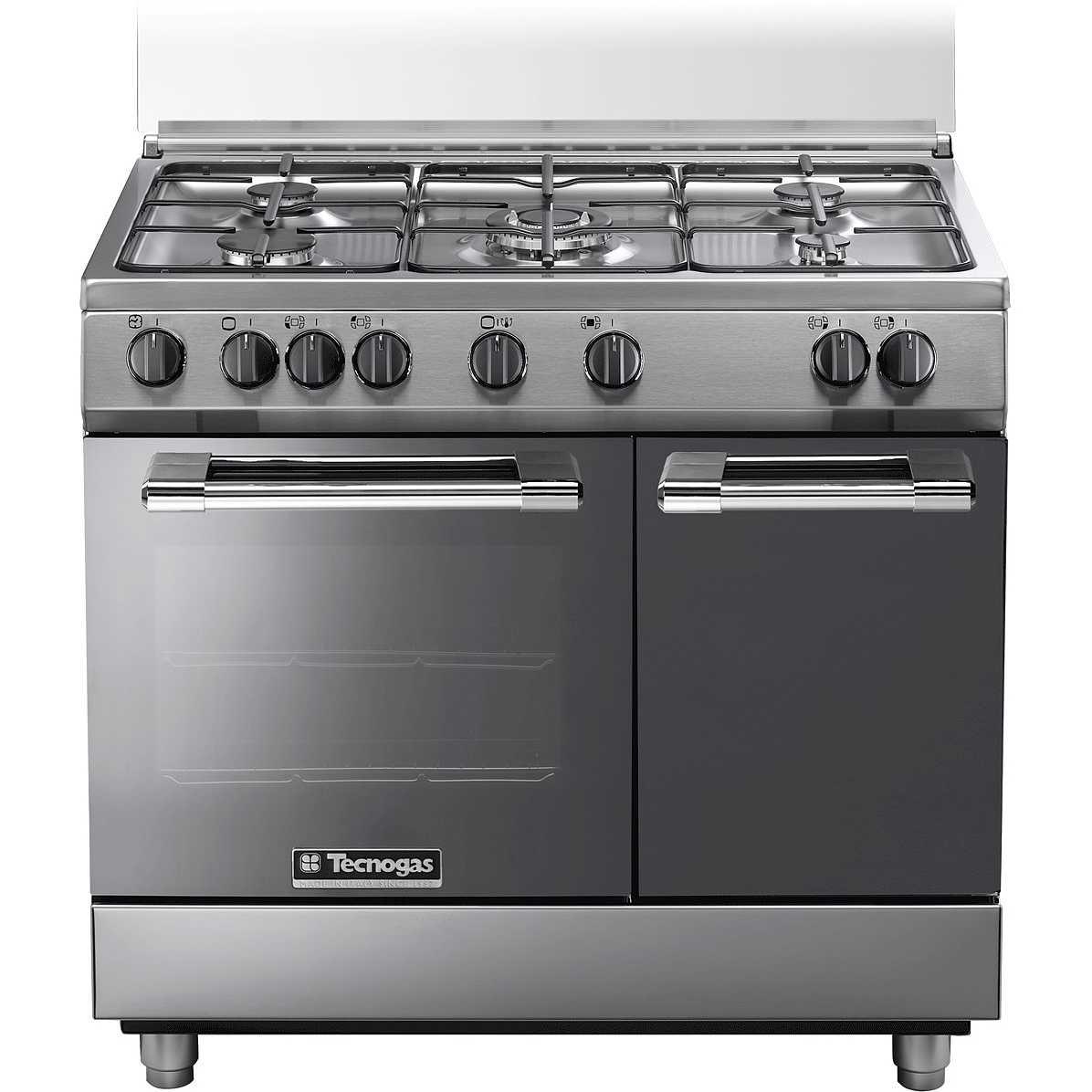 Captivating Tecnogas PB965GVX Cucina 90x60 5 Fuochi A Gas Forno A Gas Ventilato Con  Grill Elettrico 59