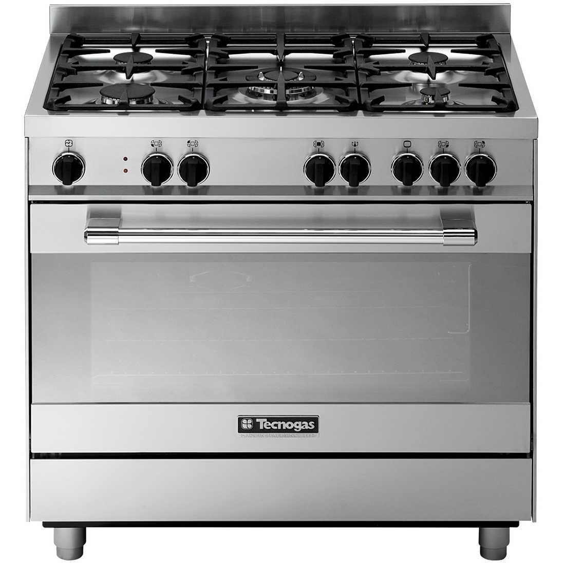 Tecnogas pt999xs cucina 90x60 5 fuochi a gas forno elettrico multifunzione 86 litri classe a - Cucina a gas 5 fuochi ...