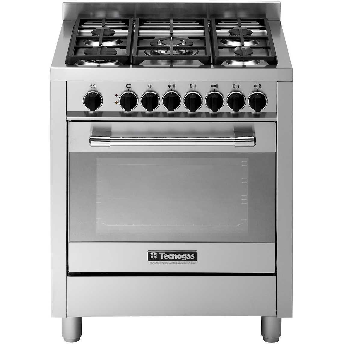 Tecnogas PTV762XS cucina 70x60 5 fuochi a gas forno a gas ...