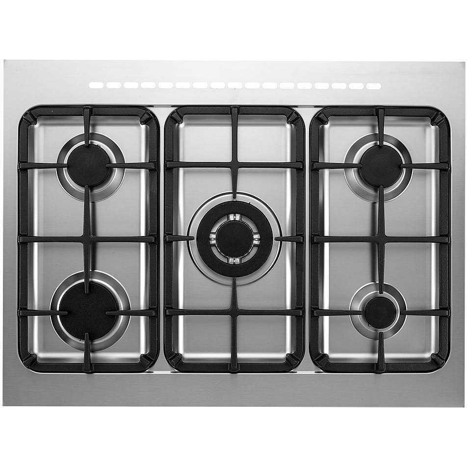 Tecnogas ptv898xs cucina 80x60 5 fuochi a gas forno a gas ventilato con grill elettrico 90 litri - Cucina con forno a gas ventilato ...