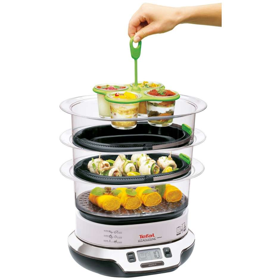 Tefal VS4003 Vaporiera Vitacuisine compact 1800w ricettario display digitale