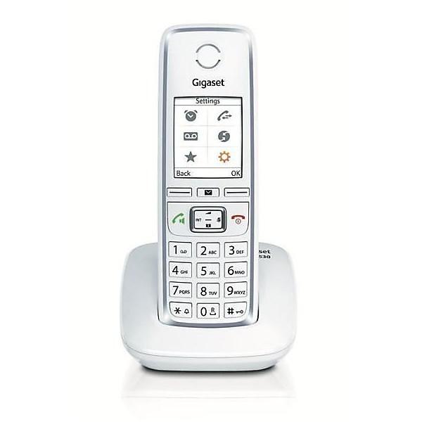 Telefono cordless gigaset c 530 white