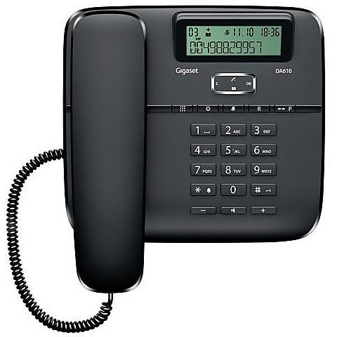 Telefono fisso da 610 black