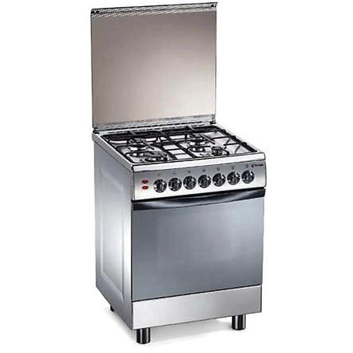 tl-657xs tecnogas cucina da 60 cm 4 fuochi a gas forno elettrico inox