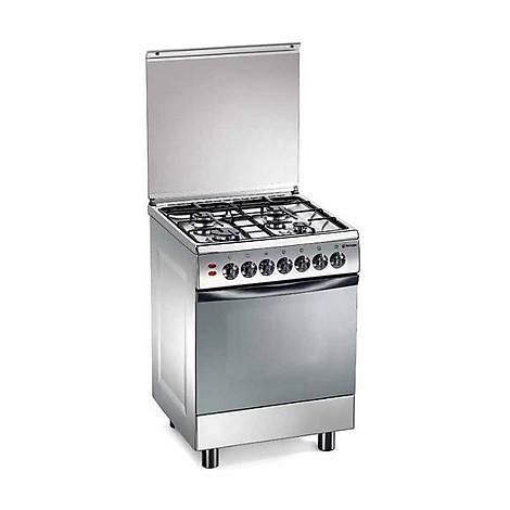 tl-662xs tecnogas cucina da 60 cm 4 fuochi a gas forno a gas inox