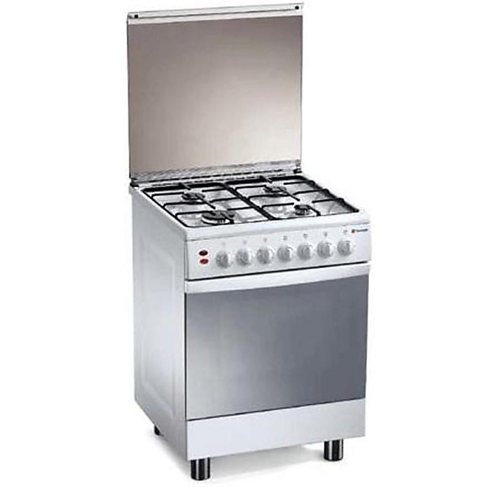 tl-667xs tecnogas cucina da 60 cm 4 fuochi a gas forno elettrico inox