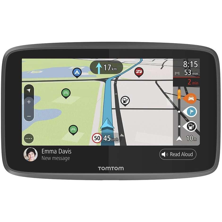 """TomTom Go Camper navigatore per auto 6"""" Touchscreen memoria 16GB Sim integrata colore Nero"""