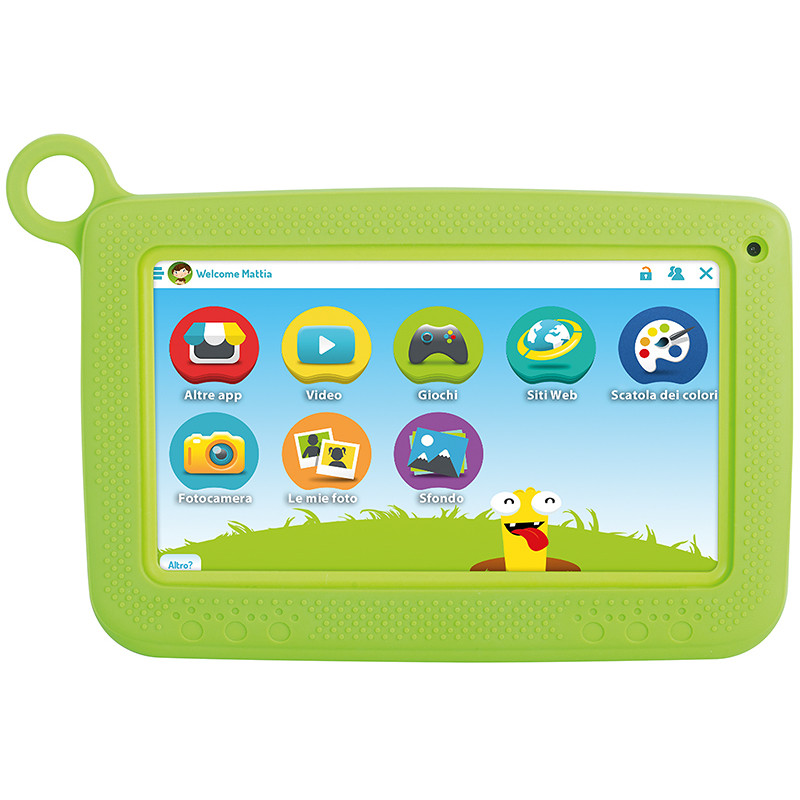 "Trevi KID TAB7 S02 Tablet 7"" memoria 8 GB Wifi Android colore Verde"