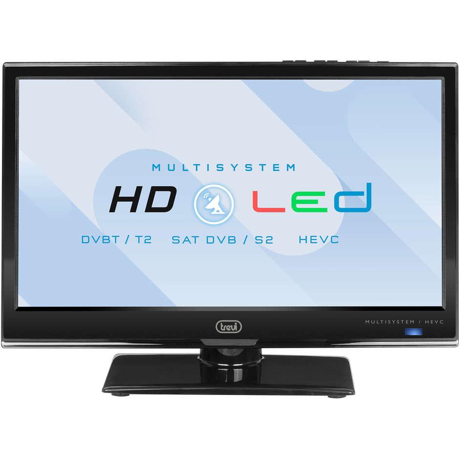 "Trevi LTV 1601 SAT Tv LED 16"" HD Ready DVB-T2 HEVC 1 HDMI 1 USB classe A+ colore nero"
