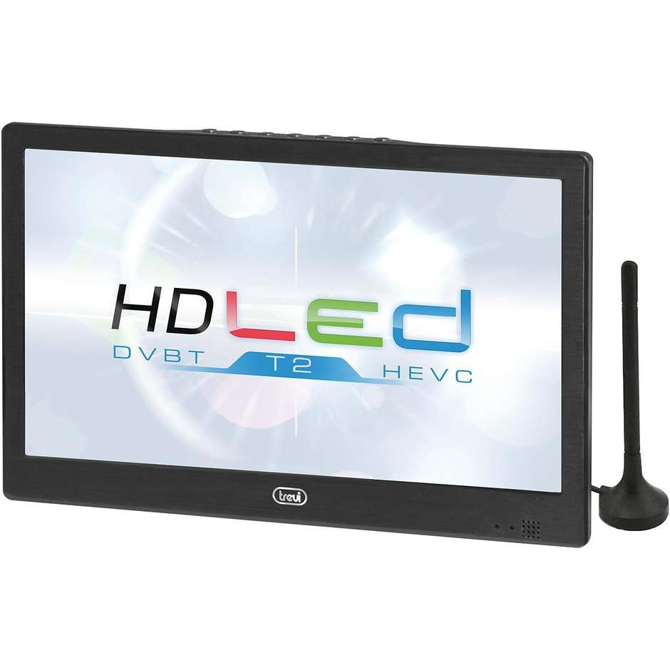"""Trevi LTV 2010 HE Tv LED 10.1"""" 3 alimentazioni 220v/12v/batterie"""