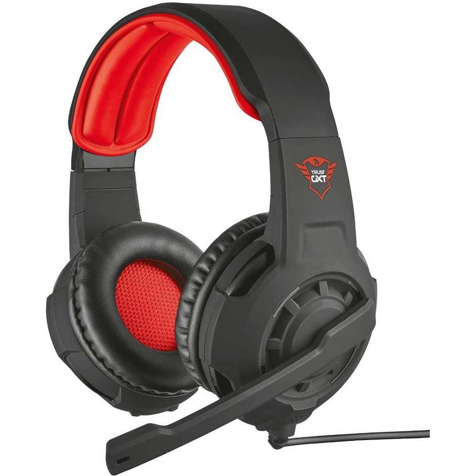 Trust GXT 310 Radius Gaming Headset cuffie da gioco colore nero e rosso