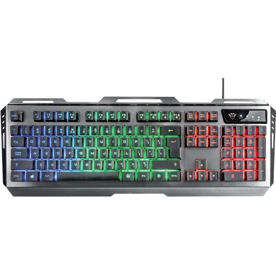 Trust GXT 845 Tural Gaming Combo tastiera e mouse da gioco illuminazione LED