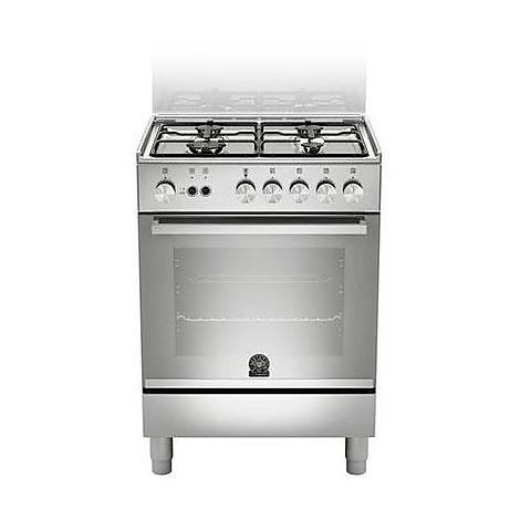 tu-64071dx la germania cucina 60 cm 4 fuochi 1 forno a gas inox