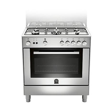 tu-85c61cxt la germania cucina 80 cm 5 fuochi 1 forno elettrico inox