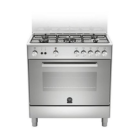 tu-85c61dxt la germania cucina 80 cm 5 fuochi 1 forno elettrico inox