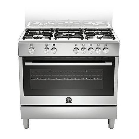 tu-95c61cx la germania cucina 90 cm 5 fuochi 1 forno elettrico inox